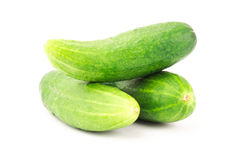 Fresh cucumber. On white background Stock Photo