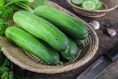 Fresh cucumber on white background Royalty Free Stock Photo