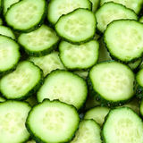Fresh Cucumbers as  background. close up macro Stock Photography