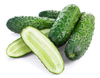 Fresh cucumbers in cutting Royalty Free Stock Photos