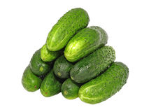 Fresh cucumbers. Isolated Stock Image