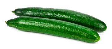 Fresh cucumbers  isolated on white.  Royalty Free Stock Image