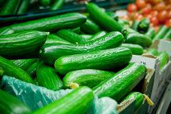 Fresh cucumbers and tomatoes Stock Photography