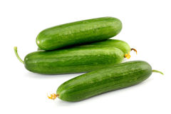 Fresh cucumbers  on white Royalty Free Stock Photography