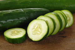 Fresh cucumbers stock image