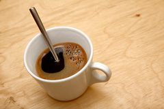 Fresh cup of coffee Stock Photography