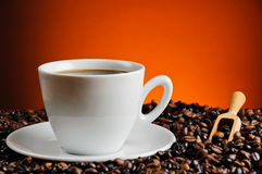 Fresh cup of coffee Stock Images