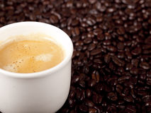 Fresh cup of coffee Royalty Free Stock Image