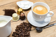 Fresh cup of delicious coffee Stock Photography