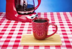 Fresh Cup of Hot Coffee Royalty Free Stock Photography