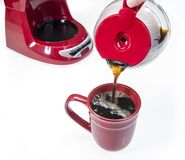 Fresh Cup of Hot Coffee Stock Photos