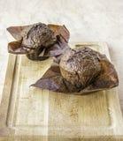 Fresh cupcakes without cream stock photos