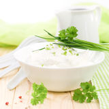 Fresh curd Stock Image