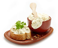 Fresh curd cheese Royalty Free Stock Image