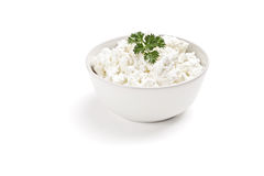 Fresh curd cheese in a bowl Stock Photography