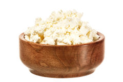 Fresh curd cheese in the bowl Royalty Free Stock Photography