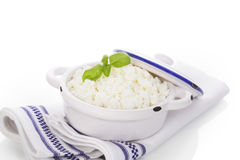 Fresh curd. Royalty Free Stock Photo