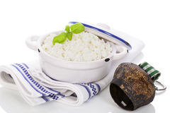 Fresh curd. Royalty Free Stock Photography