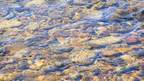Fresh, current and clear water of a river (4K) stock video