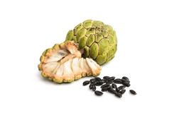 Fresh Custard Apple isolated Stock Images