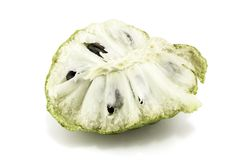 Fresh Custard Apple or Ripe Sugar Apple Fruit  Annona, sweetsop Isolated on white background on with clipping path / well-branch Stock Images