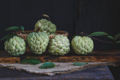 Fresh Custard Apples Stock Photo
