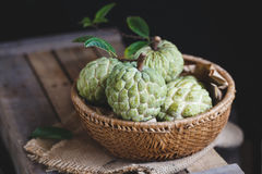 Fresh Custard Apples Stock Images