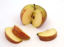 Fresh cut apple. Apple cut into slices ready to eat Stock Photo