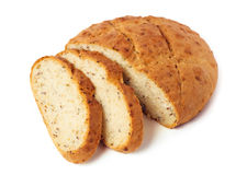 Fresh cut bread Stock Images