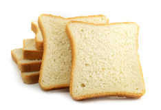Fresh Cut Bread On White Background Royalty Free Stock Images