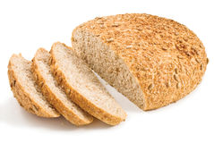 Fresh cut bread with seeds of sunflower Stock Photos