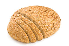 Fresh cut bread with seeds of sunflower Royalty Free Stock Photo