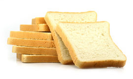 Fresh cut bread on white background Royalty Free Stock Image