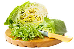Fresh cut cabbage. Royalty Free Stock Photography
