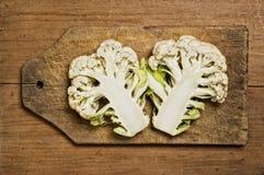 Fresh cut cauliflower Royalty Free Stock Image