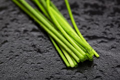 Fresh cut chives Stock Photo