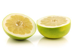 Fresh cut honey pomelo fruit Royalty Free Stock Photography