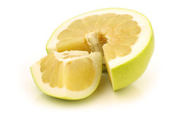 Fresh cut honey pomelo fruit Stock Photography