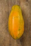 Fresh cut juicy tropical papaya mamao fruit with seeds at Brazil Royalty Free Stock Photography