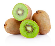 Fresh cut kiwi fruits isolated on white background Royalty Free Stock Image