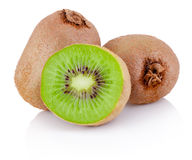 Fresh cut kiwi fruits isolated on white background Stock Photography