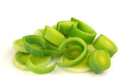 Fresh cut leek Stock Photos