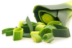 Fresh cut leek Stock Photo