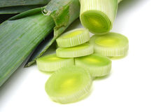 Fresh cut leek Royalty Free Stock Photos