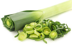 Fresh cut leek Stock Image