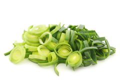 Fresh cut leek Royalty Free Stock Photography