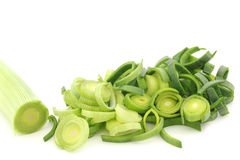 Fresh cut leek Royalty Free Stock Image
