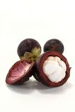 Fresh cut Mangosteen Royalty Free Stock Photography