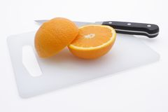 Fresh cut orange Royalty Free Stock Photos