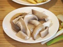Fresh cut of oyster mushroom Stock Photo